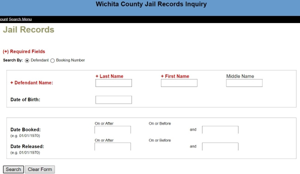 Finding Inmate Roster of Wichita Falls
