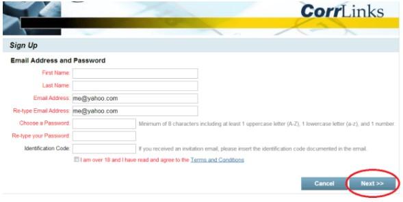 Registration - Sign Up page
