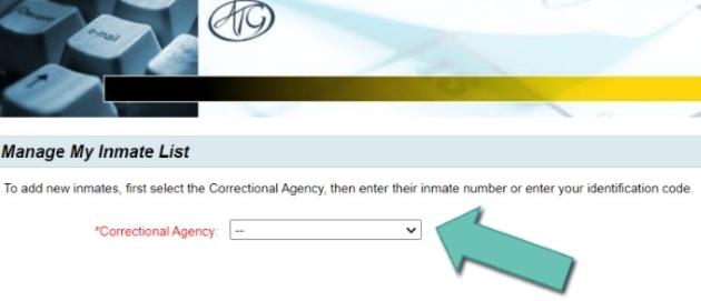 choose the corresponding correctional agency