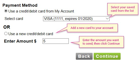 payment method buy stamps