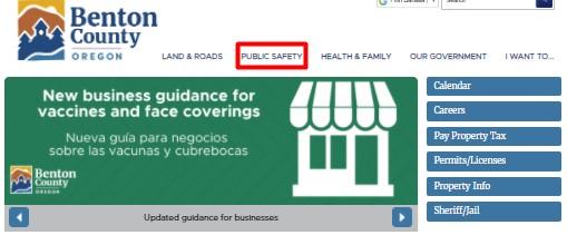 put the cursor on Public Safety menu