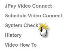 the System Check must be clicked